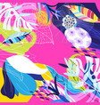 tropical colorful trendy art print from exotic vector image vector image