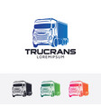 truck trans logo vector image vector image