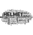 wear the perfect fit helmet text word cloud vector image vector image
