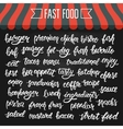 White hand lettering set of words for fast food on vector image vector image