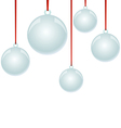 Christmas NewYear balls with ribbon hanging vector image