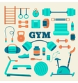 Set of fitness equipment vector image