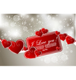 abstract greeting card with hearts vector image vector image