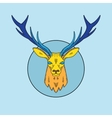 Abstract Line Style Deer Face vector image