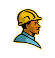 african american construction worker mascot vector image
