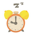 alarm clock icon cartoon style vector image