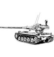 armoured heavy tank with a powerful gun vector image