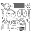 auto parts icons set vector image
