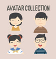 avatar different people set vector image vector image