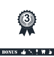 Award medals icon flat