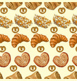 Bakery pattern 2 vector image vector image