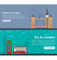 Banner travel to London Flat style vector image vector image