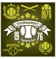 Baseball tournament emblem for t-shirt vector image