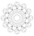 black and white circular round wedding mandala vector image vector image