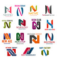 Business icons letter n corporate identity