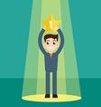 Businessman in spotlight vector image vector image