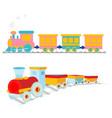 cartoon-train vector image vector image