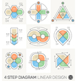 Circle Triangle Arrows Linear line design elements vector image