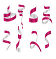 collection confetti ribbons vector image vector image