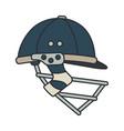 color icon british cricket defense helmet vector image vector image
