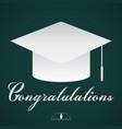 congratulations graduation cap vector image vector image