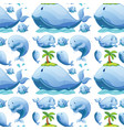cute whale seamless pattern vector image