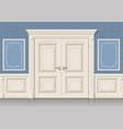 door panels and classic vector image vector image