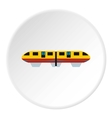 Electric train icon flat style vector image vector image