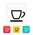 Empty tea cup icon vector image
