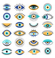 evil eyes symbols illuminati tattoo graphic vector image