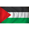 Flag of West Bank vector image vector image