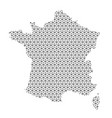 france map abstract schematic from black lines vector image