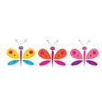 funny butterflies on a white background vector image vector image