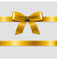 golden bow isolated vector image vector image