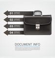 gray bag business info art vector image