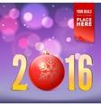 Greeting card for New Year vector image vector image
