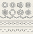 guilloche graphics vintage engraving waves for vector image vector image