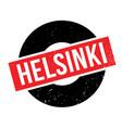 helsinki rubber stamp vector image vector image