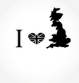 I love UK vector image