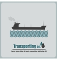 icon oil barge vector image