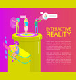 interactive reality cartoon banner set vector image vector image