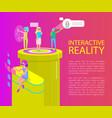 interactive reality cartoon banner set vector image