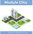 isometric area is the landscape of a large city vector image vector image