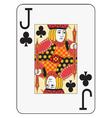 Jumbo index jack of clubs vector image vector image