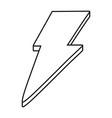 lighting icon cartoon black and white vector image