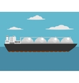 Liquefied natural gas carrier ship vector image