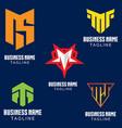 m letter based logo set volume 1