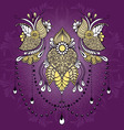 Mehndy flowers tattoo template vector image vector image