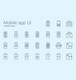 mobile app ui iconset vector image vector image