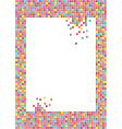 mosaic frame vector image vector image